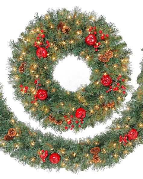 sable fir wreath and garland christmas tree market