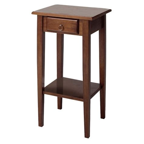 Phone Stand 3 Drawer Antique Ag 51 regalia accent table with drawer shelf antique walnut winsome target