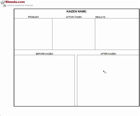 kaizen template powerpoint kaizen before and after template