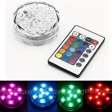 battery operated christmas lights with remote binzet ir remote controlled rgb submersible led lights aa battery operated led ebay