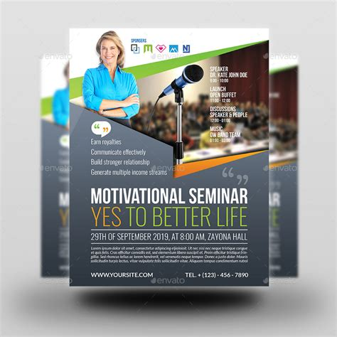 layout seminar seminar flyer templates by owpictures graphicriver
