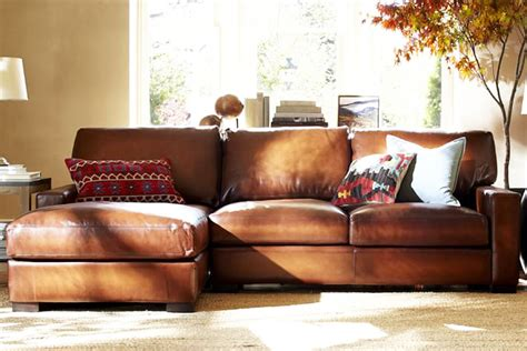 leather couch living room pottery barn sofa guide and ideas midcityeast