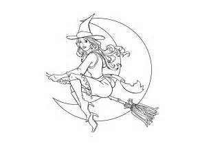 Witch colouring pages page 3