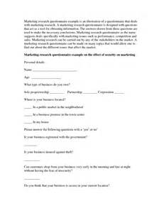 research survey template exle questionnaire for research paper