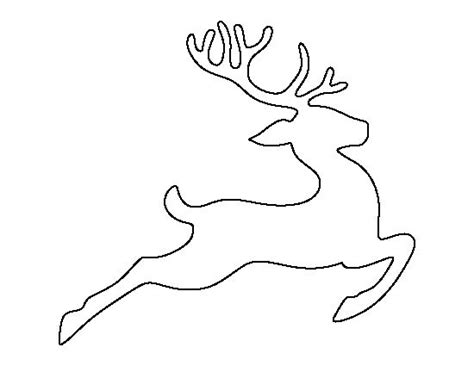 reindeer template printable flying reindeer pattern use the printable outline for