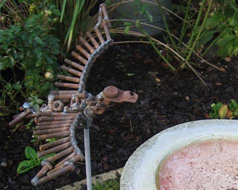 recycled metal sculptures garden flying bird scrap metal sculpture in garden scrap