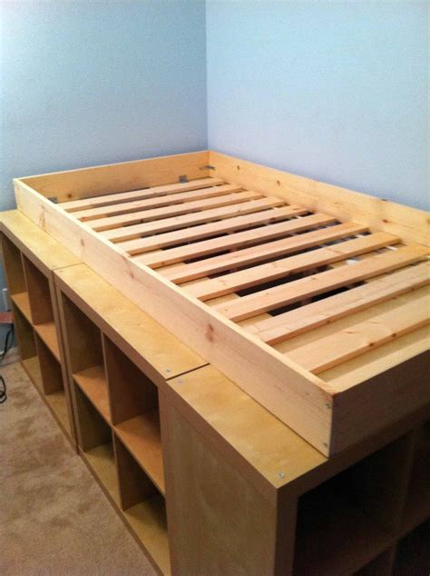 diy ikea loft bed using sultan lade slats maybe add little legs i built