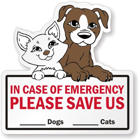 Aufkleber Feuerwehr Tiere by In Of Emergency Label Save Pets Decal Pet Alert