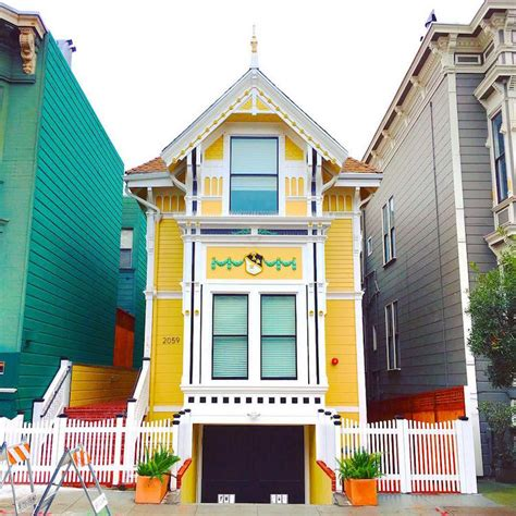 vibrant photos of san francisco s colored houses