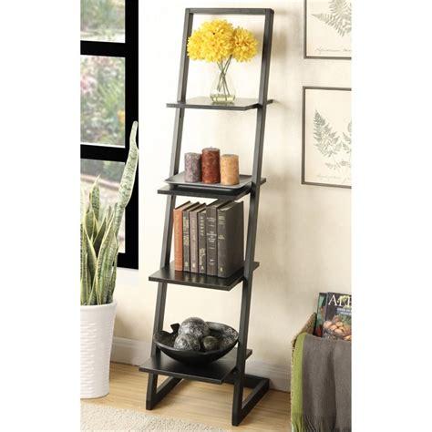 ladder bookcase black 4 shelf ladder bookcase in black 131499bl