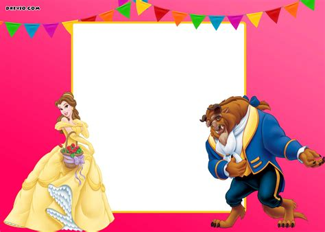 Free Printable Disney Beauty And The Beast Invitation Template Bagvania Free Printable Of Avalor Birthday Invitation Template