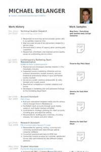 Auditor Resume Objective by Auditor Resume Sles Visualcv Resume Sles Database
