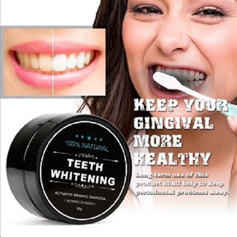teeth whitening powder organic charcoal bamboo amour