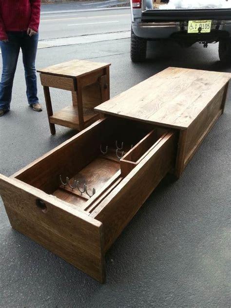 Coffee Table with Locking Gun Safe   by hoss12992 @ LumberJocks.com ~ woodworking community