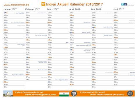 Kalender 2016 Aktuell Indien Aktuell Kalender 2016 2017 Pdf