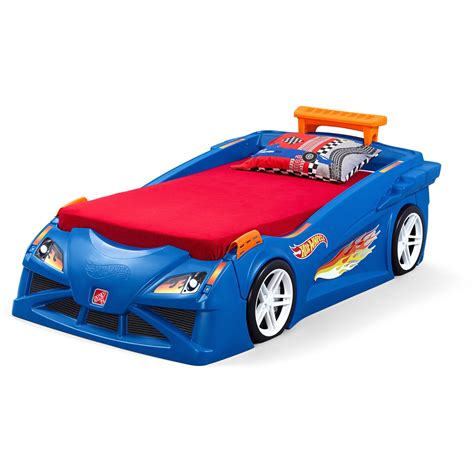 step 2 race car bed step2 blue hot wheels toddler race car bed and dresser