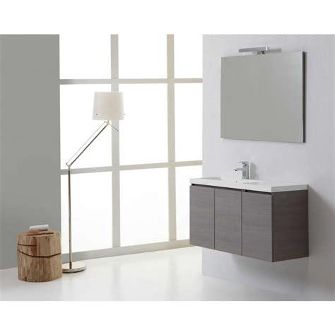 mobile sospeso per bagno moderno da 90 cm con ante kv store