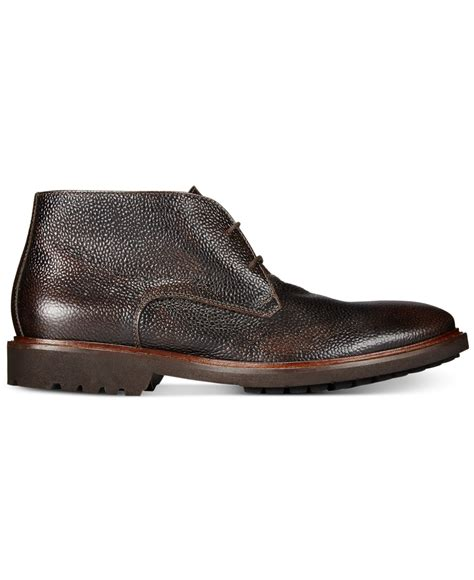 kenneth cole brown shoes kenneth cole fella chukka boots in brown for lyst
