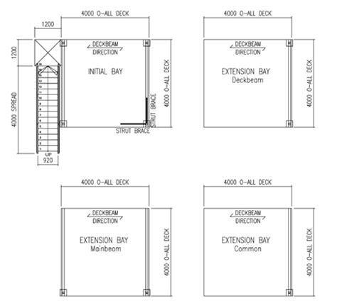 4m x 4m modular floor plan size