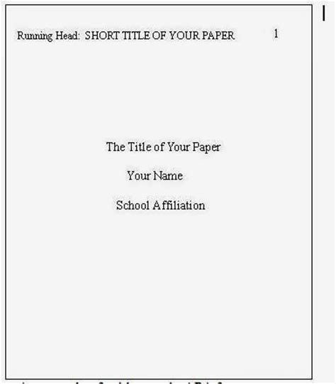 research paper title page sop example