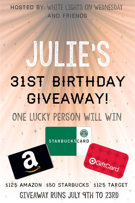 Birthday Giveaway - julie s birthday gift card giveaway its yummi