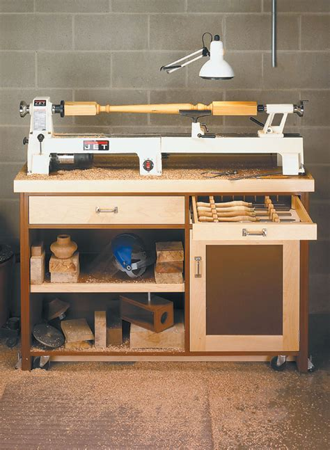 mini lathe stand woodworking project woodsmith plans