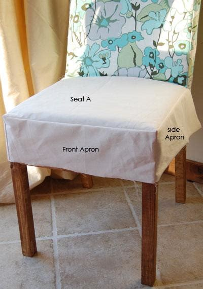 Diy Dining Chair Seat Covers White Build A Drop Cloth Parson Chair Slipcovers Free And Easy Diy Project And Furniture
