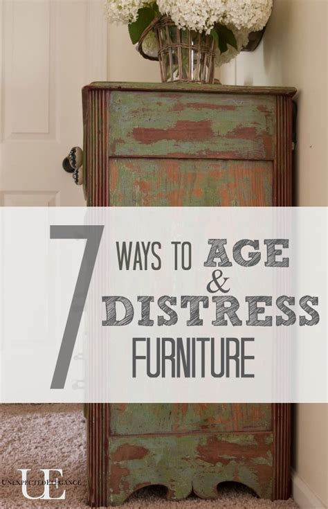 distressed cabinets painting techniques 7 ways to age and distress furniture unexpected elegance
