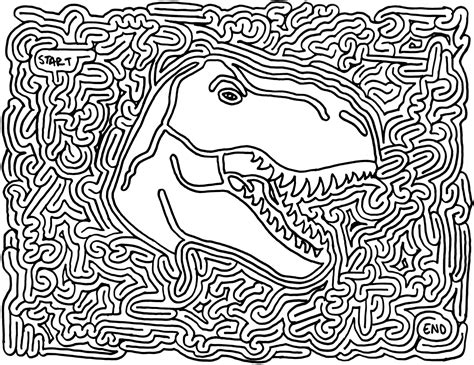 printable labyrinth maze favors dinosaur printable maze parties dinosaurs