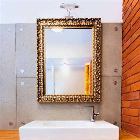 custom gold frame bathroom mirror for the home