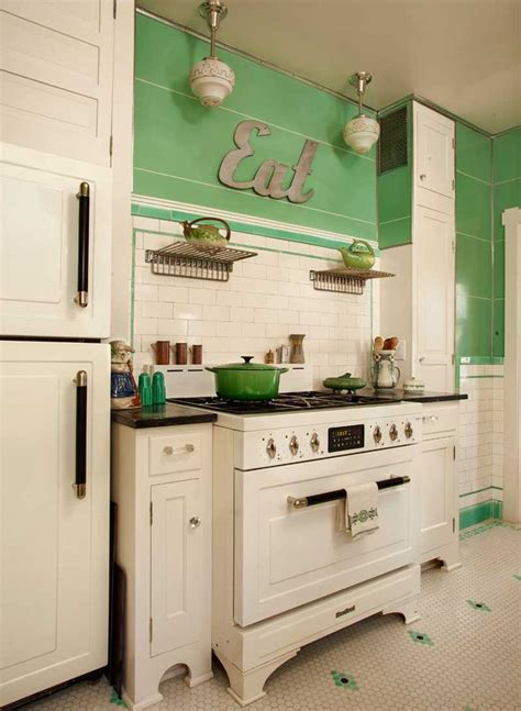 art deco kitchen cabinets 32 cozy vintage kitchen designs that you ll love