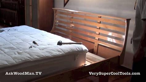 build  bed platform bed assembly youtube