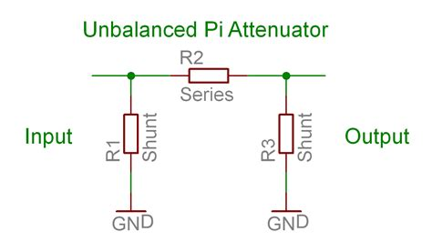 impedance match resistor impedance matching pi attenuator calculator