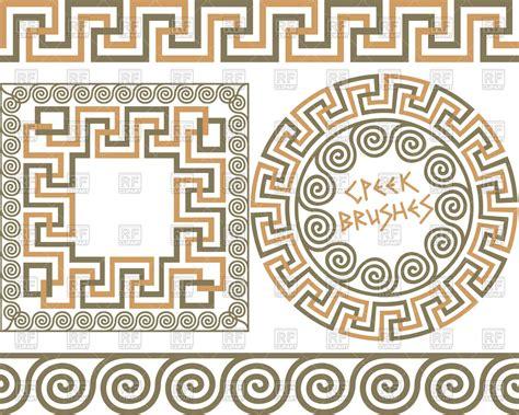 pattern greek vector greek meander patterns and sles royalty free vector