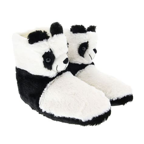 panda slipper socks plush panda slipper boots from claires co uk pan pan