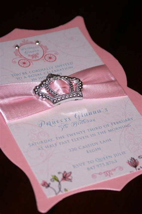 Handmade Princess Invitations - princess birthday invitations chic shab
