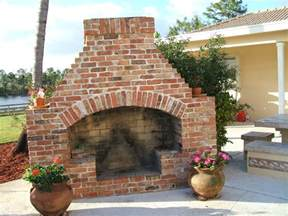 brick outdoor fireplace outdoor brick fireplaces bbq pits