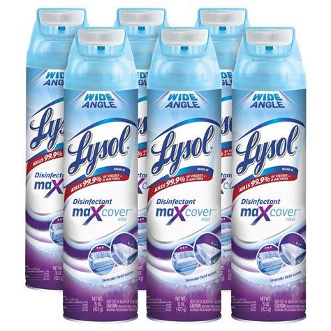 lysol max cover disinfectant mist lavender field oz xoz  wider coverage