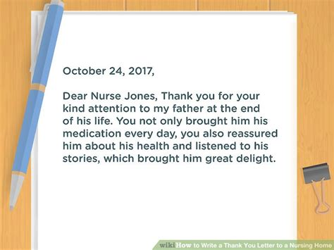 thank you letter to for caring how to write a thank you letter to a nursing home 10 steps