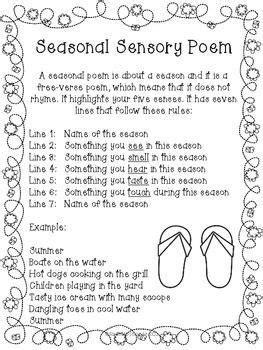 sensory poem template seasonal sensory poem defining writing freebie just in