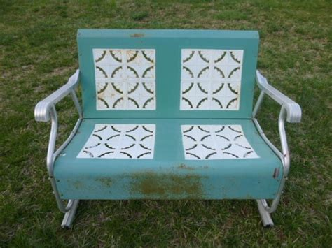 vintage metal glider bench vintage metal porch glider 2 seater antique patio lawn