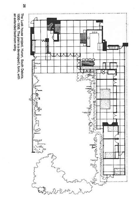 usonian house plan shibori pinterest wright usonian lusk house huron sd it s a plan