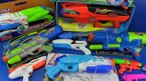 water gun game toys  kids box  toys  colored