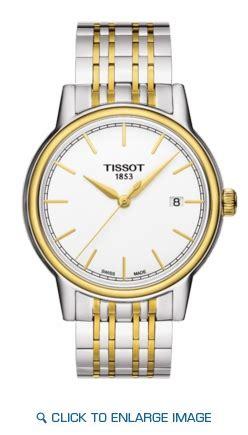 Tissot T0854102201100 Carson Quartz Silver Gold t085 410 22 011 00 tisson carson two tone white
