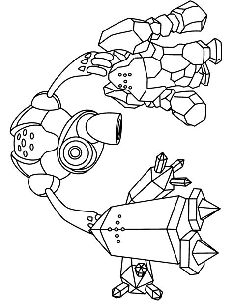 pokemon registeel coloring pages pokemon advanced coloring pages