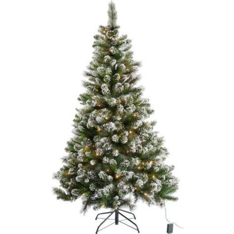 pre lit snow tipped christmas tree with 180 lights 6ft