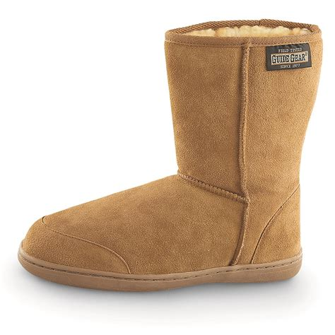 s boot slipper guide gear s 10 quot suede boot slippers 77189 slippers