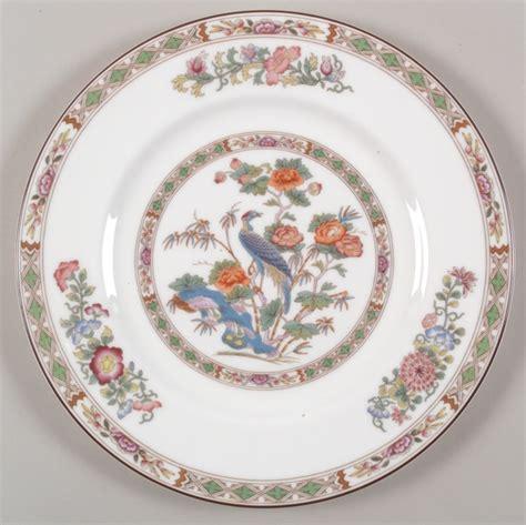 china pattern quot kutani crane quot china pattern with orange flowers blue