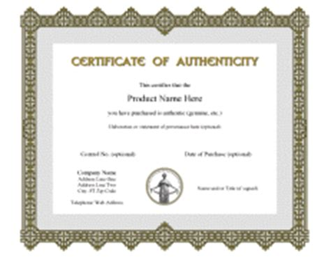 certificate of authenticity autograph template www
