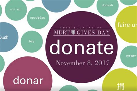 million dollar table foundation mdrt foundation general donations created by million